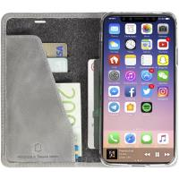 Krusell Sunne 4 Card FolioWallet - Skórzane etui iPhone X z kieszeniami na karty + stand up (Light)