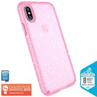 Speck Presidio Clear with Glitter - Etui iPhone X (Gold Glitter/Bella Pink)