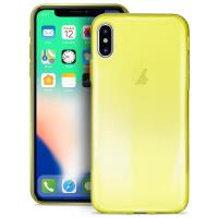 PURO 0.3 Nude - Etui iPhone Xs / X (Fluo Yellow)