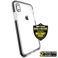 PURO Impact Pro Flex Shield - Etui iPhone Xs / X (czarny)