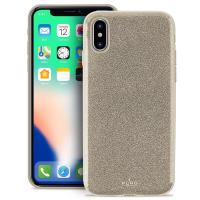 PURO Glitter Shine Cover - Etui iPhone Xs / X (Gold)