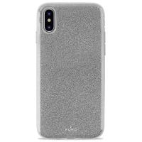 PURO Glitter Shine Cover - Etui iPhone Xs / X (Silver)