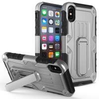 Zizo Heavy Duty Armor Case - Pancerne etui iPhone X z podstawką + uchwyt do paska (Gray/Black)