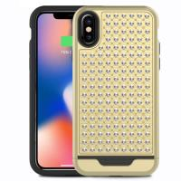 Zizo Star Diamond Hybrid Cover - Etui iPhone X (Gold/Black)