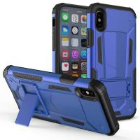 Zizo Hybrid Transformer Cover - Pancerne etui iPhone X z podstawką (Blue/Black)