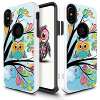 Zizo Sleek Hybrid Design Cover - Etui iPhone X (Owl)