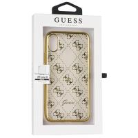 Guess 4G Transparent - Etui iPhone X (złoty)