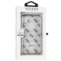Guess 4G Transparent - Etui iPhone X (srebrny)