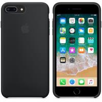 Apple Silicone Case - Silikonowe etui iPhone 8 Plus / 7 Plus (czarny)
