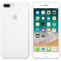 Apple Silicone Case - Silikonowe etui iPhone 8 Plus / 7 Plus (biały)