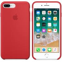 Apple Silicone Case - Silikonowe etui iPhone 8 Plus / 7 Plus (czerwony) (PRODUCT)RED
