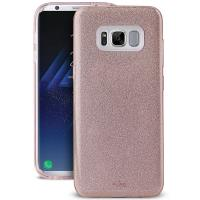 PURO Glitter Shine Cover - Etui Samsung Galaxy S8 (Rose Gold)