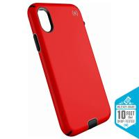 Speck Presidio Sport - Etui iPhone X (Black/Poppy Red)