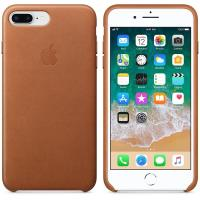 Apple Leather Case - Skórzane etui iPhone 8 Plus / 7 Plus (naturalny brąz)
