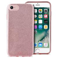 PURO Glitter Shine Cover - Etui iPhone SE 2020 / 8 / 7 / 6s (Rose Gold)