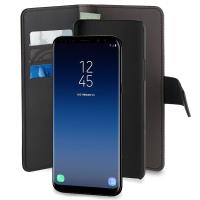 PURO Wallet Detachable - Etui 2w1 Samsung Galaxy S9 (czarny)