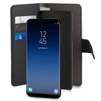 PURO Wallet Detachable - Etui 2w1 Samsung Galaxy S9+ (czarny)