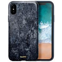 Laut HUEX ELEMENTS - Etui iPhone Xs / X z 2 foliami na ekran w zestawie (Marble Blue)