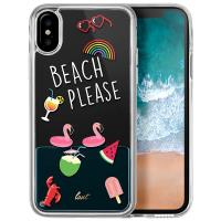 Laut POP BEACH PLEASE - Etui iPhone Xs / X z 2 foliami na ekran w zestawie (Beach please)