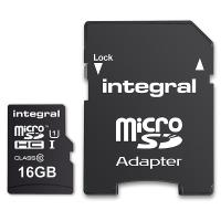 Integral UltimaPro - Karta pamięci 16GB microSDHC 40MB/s Class 10 UHS-I U1 + Adapter