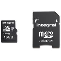 Integral UltimaPro - Karta pamięci 16GB microSDHC/XC 90MB/s Class 10 UHS-I U1 + Adapter