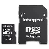 Integral UltimaPro - Karta pamięci 32GB microSDHC/XC 40MB/s Class 10 UHS-I U1 + Adapter