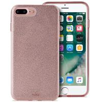 PURO Glitter Shine Cover - Etui iPhone 8 Plus / 7 Plus / 6s Plus / 6 Plus (Rose Gold) Limited edition