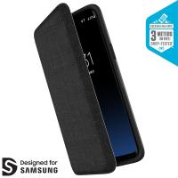 Speck Presidio Folio - Etui Samsung Galaxy S9 z kieszenią na karty + stand up (Heathered Black/Black/Slate Grey)