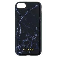 Guess Marble Tempered Glass Hardcase - Etui iPhone 8 / 7 (czarny)