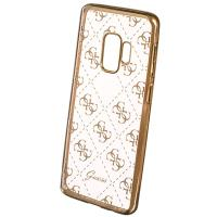 Guess 4G Transparent - Etui Samsung Galaxy S9+ (złoty)