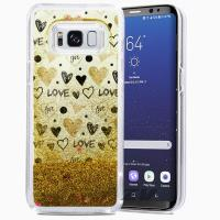Zizo Liquid Glitter Star Case - Etui Samsung Galaxy S8+ (Hearts)