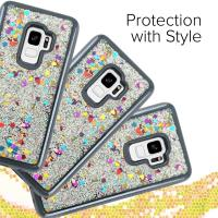 Zizo Liquid Glitter Star Case - Etui Samsung Galaxy S9 (Black)