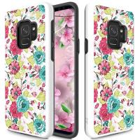 Zizo Sleek Hybrid Design Cover - Etui Samsung Galaxy S9 (Flowers)
