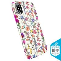 Speck Presidio Inked - Etui iPhone X (White Flowers/Lipstick Pink)