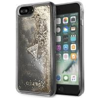 Guess Liquid Glitter - Etui iPhone 8 Plus / 7 Plus (złoty)