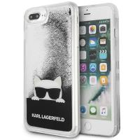 Karl Lagerfeld Choupette Sunglass - Etui iPhone 8 Plus / 7 Plus (Glitter Black)