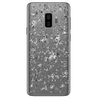 PURO Glam Ice Light Cover - Etui Samsung Galaxy S9+ z metalicznymi elementami srebra