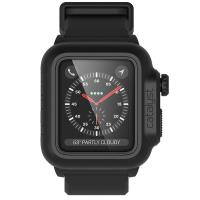 Catalyst Waterproof Case - Etui wodoszczelne + pasek Apple Watch 38 mm seria 3 / seria 2 (Stealth Black)