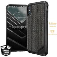 X-Doria Defense Lux - Etui aluminiowe iPhone X (Stripes Fabric)