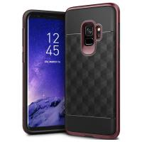 Caseology Parallax Case - Etui Samsung Galaxy S9 (Black/Burgundy)