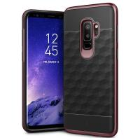 Caseology Parallax Case - Etui Samsung Galaxy S9+ (Black/Burgundy)