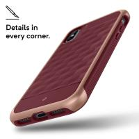 Caseology Parallax Case - Etui iPhone Xs / X (Burgundy)