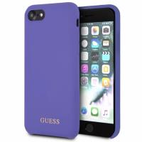 Guess Silicone - Etui iPhone 8 / 7 (fioletowy)