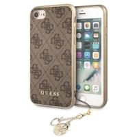 Guess 4G Charms Collection - Etui iPhone 8 / 7 z zawieszką (brązowy)