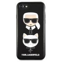 Karl Lagerfeld Embossed Case Karl & Choupette - Etui iPhone 8 / 7 (czarny)
