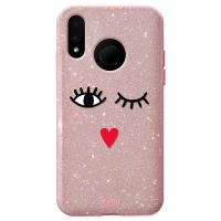 PURO Glitter EYES Shine Cover - Etui Huawei P20 Lite (Rose Gold) Limited edition