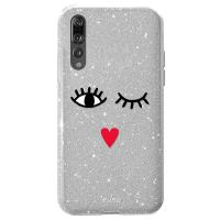 PURO Glitter EYES Shine Cover - Etui Huawei P20 Pro (Silver) Limited edition