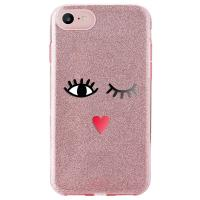 PURO Glitter EYES Shine Cover - Etui iPhone 8 / 7 / 6s / 6 (Rose Gold) Limited edition