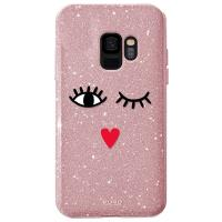 PURO Glitter EYES Shine Cover - Etui Samsung Galaxy S9 (Rose Gold) Limited edition