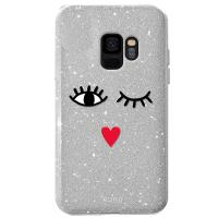 PURO Glitter EYES Shine Cover - Etui Samsung Galaxy S9 (Silver) Limited edition